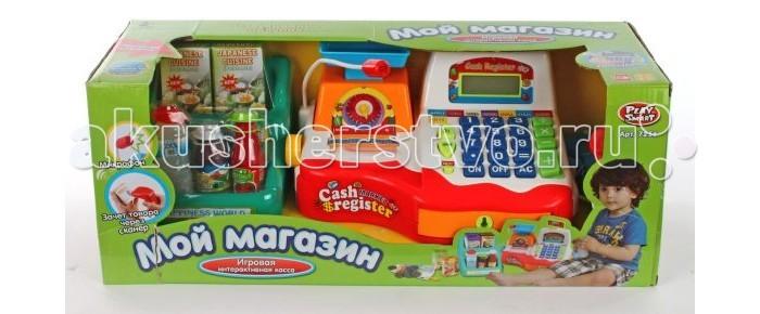 Ролевые игры Shantou Gepai Касса электронная Мой магазин с весами сканером и набором продуктов