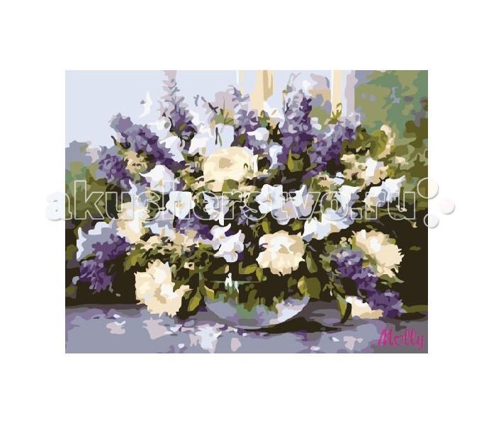 Картины по номерам Molly Картина по номерам Букет с колокольчиками наборы для рисования цветной картины по номерам букет розовых цветов