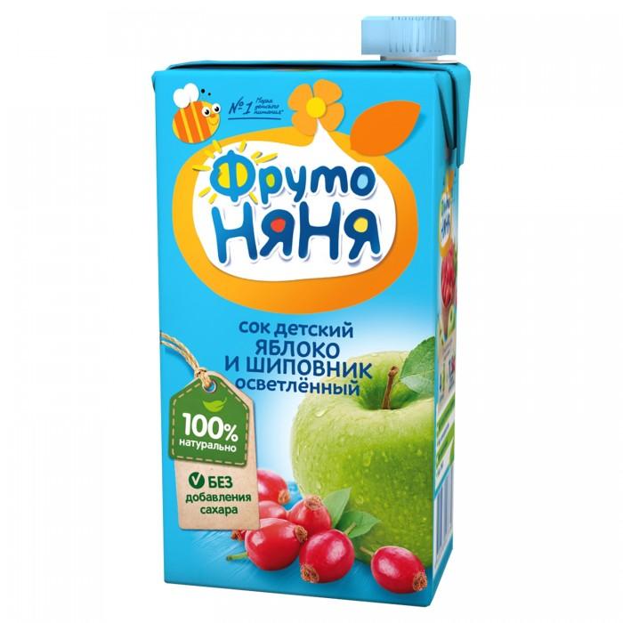 Соки и напитки ФрутоНяня Сок из яблок и шиповника осветленный с 5 мес. 500 мл молоко фрутоняня 2 5% с 3 лет 500 мл