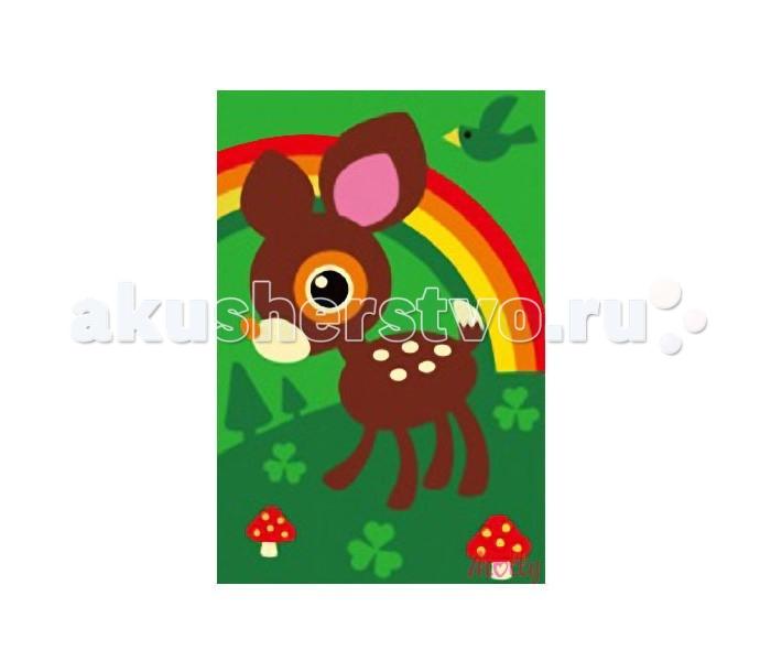 Раскраски Molly по номерам Оленёнок шкатулка оленёнок в лесу 17х13х5 см 175233