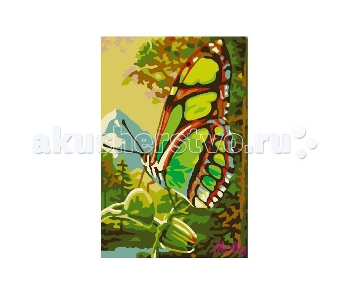 Картины по номерам Molly Картина по номерам Бабочка molly мозаичная картина зеленая долина 40х50 см