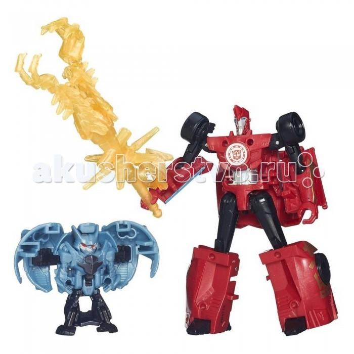 Роботы Transformers Сайдсвайп и Анвил серия Роботы под прикрытием robots in disguise 1 step changers