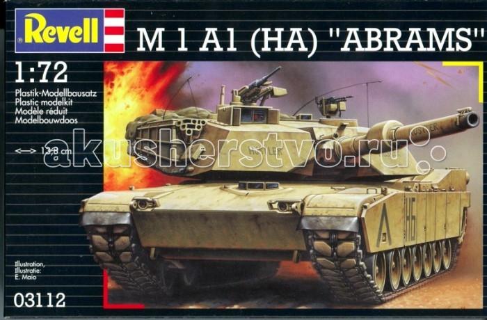 Конструкторы Revell Танк M 1 A1 (HA) Abrams радиоуправляемый танковый бой huan qi abrams vs abrams масштаб 1 24 27mhz vs 40mhz