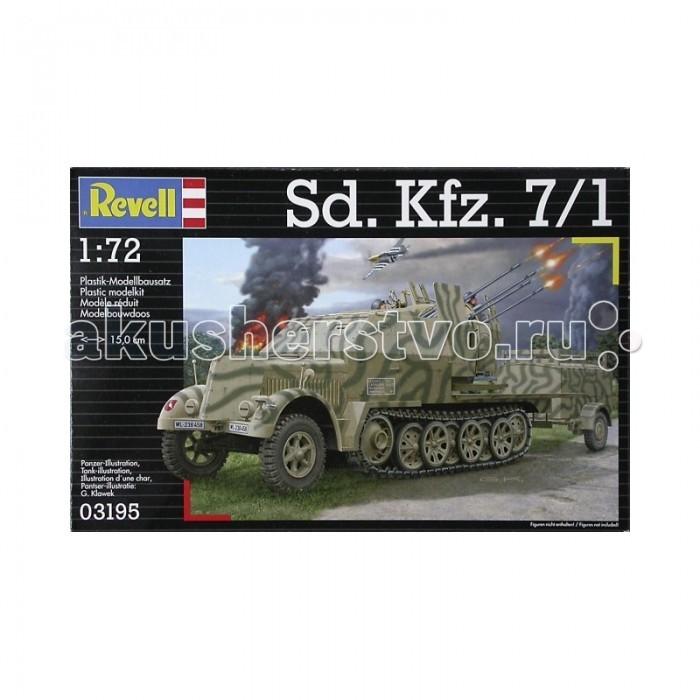 Конструкторы Revell Полугусеничный тягач Sd Kfz 7/1 б у резину для американского тягача