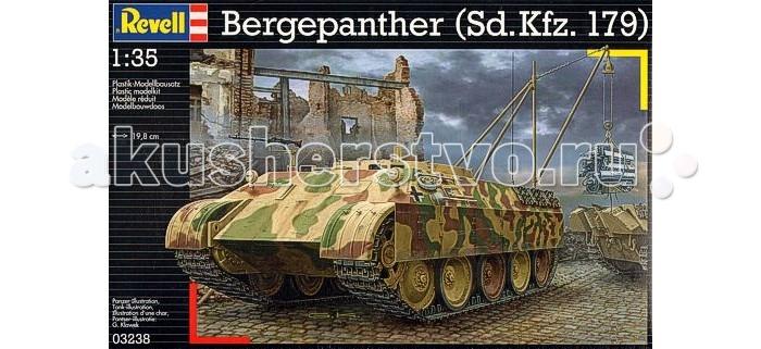 Конструктор Revell Бронированная ремонтно-эвакуационная машина Bergepanther (Sd.Kfz. 179)Бронированная ремонтно-эвакуационная машина Bergepanther (Sd.Kfz. 179)Бергепантера была создана в 1943 году специально для эвакуации танков тяжелого класса, например, Тигра или Пантеры. Всего было выпущено около 300 бронемашин, немцы применяли их повсеместно. Уже после Второй мировой войны БРЭМ данного типа использовали Франция и Чехословакия. Сборная модель имеет более 400 деталей, она относится к самому сложному уровню, поэтому рассчитана на опытных моделистов.  Внимание! Клей и краски в комплект не входят.  Особенности:   Длина собранной модели: 19.8 см Масштаб: 1:35. Количество деталей: 419 шт.<br>