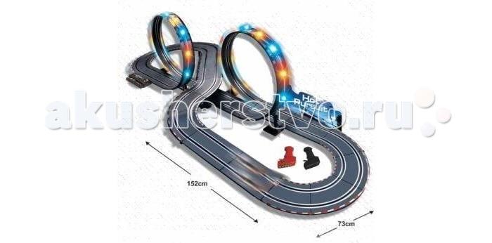 Shantou Gepai Автотрек р/у Slot Racing (свет) 1:43Автотрек р/у Slot Racing (свет) 1:43Замечательный набор поможет ребенку почувствовать атмосферу настоящих гонок!   Управление машинками осуществляется за счет пульта управления. Пульт имеет довольно простой функционал, поэтому ребенку будет не сложно разобраться в его работе.   Непосредственно к гонкам можно будет перейти после того, как будет закончена сборка автотрека.   На кольцах присутствуют световые элементы, которые сделают процесс игры более эффектным.   В дополнительных функциях возможно поменять скоростной режим игры.   В гонке могут принимать участие два человека.<br>