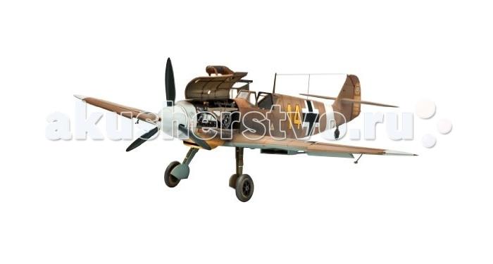 Конструктор Revell Самолет Истребитель Messerschmitt Bf109 F-2/4, немецкийСамолет Истребитель Messerschmitt Bf109 F-2/4, немецкийMesserschmitt Bf.109 – самый известный и самый массовый немецкий истребитель Второй Мировой. За годы войны промышленность Германии произвела 33 984 самолетов данной модели. По показателю массовости Мессер проигрывает только советскому штурмовику Ил-2. Впервые Bf.109 был использован пилотами легиона Кондор во время гражданской войны в Испании. В ходе Второй мировой Мессер широко применялся на всех театрах военных действий. В том числе и на Восточном фронте. Советские пилоты с уважением относились к этой машине и признавали в ней самого опасного воздушного противника. Стоит отметить, что самый результативный летчик Второй мировой немецкий ас Эрих Хартманн пилотировал именно Messerschmitt Bf.109  Внимание! Клей и краски в комплект не входят.  Особенности:   Длина модели: 190 мм  Размах крыльев: 206 мм Масштаб: 1:48  Количество деталей: 98 шт.<br>
