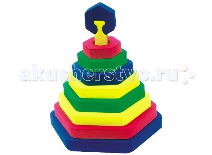 Развивающие игрушки Бомик Пирамида Шестиугольник развивающие игрушки игрушкин пирамида зайка 24 см
