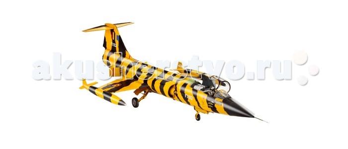Конструктор Revell Истребитель F-104 G StarfighterИстребитель F-104 G StarfighterСборная модель американского истребителя F-104 G Starfighter. Самолет был разработан в 1954 году, а первые машины поступили на вооружение ВВС США в 1958 году. Самолет получился крайне неудачным. Так из поставленных в ФРГ 916 машин было потеряно в ходе полетов 292 экземпляра. При этом погибли 116 пилотов. В октрябре 1960 года была разработана модификация F-104 G. Созданная для немецкой армии, данная полностью переработанная версия самолета оказалась самой удачной и надежной.   Внимание! Клей и краски в комплект не входят.  Особенности:   Длина модели: 360 мм  Размах крыльев: 141 мм Масштаб: 1:48  Количество деталей: 65 шт.<br>