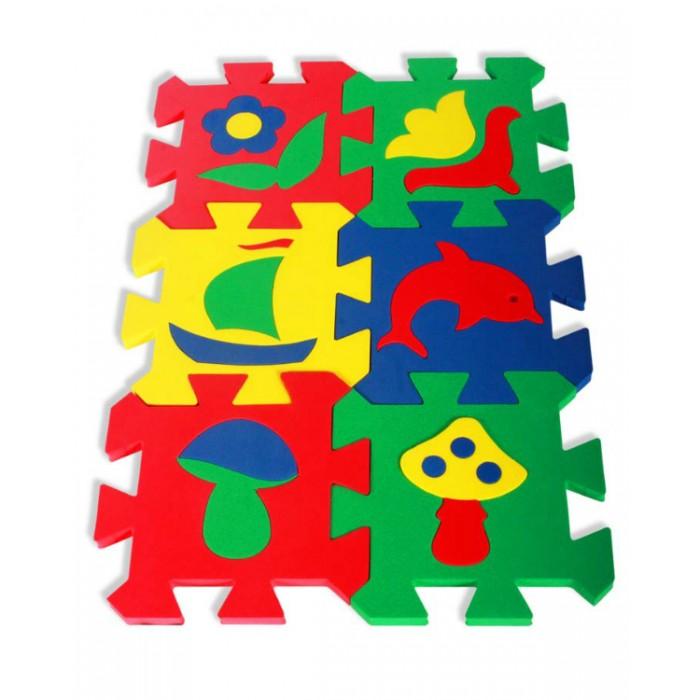 Игровые коврики Бомик Мозаика 14х14 см 6 шт. пазлы бомик мозаика локомотив