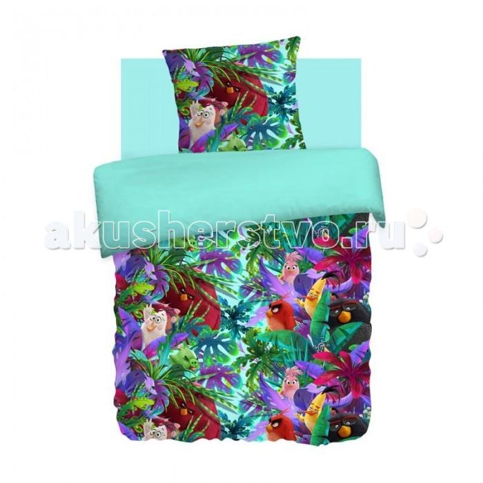 Постельные принадлежности , Постельное белье 1.5-спальное Непоседа Angry Birds Тропики 1.5-спальное (3 предмета) арт: 202140 -  Постельное белье 1.5-спальное