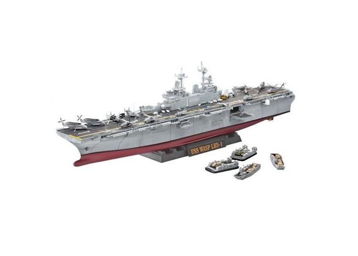 Конструктор Revell Корабль U.S.S. Wasp Class (1349 деталей)Корабль U.S.S. Wasp Class (1349 деталей)Универсальные десантные корабли типа Wasp — серия кораблей ВМФ США, спроектированная для высадки сухопутных войск. Корабли этой серии являются крупнейшими кораблями такого типа в мире. Универсальные десантные корабли типа «Wasp» были разработаны по заказу командования ВМС США для замены 7 десантных кораблей типа Иводзима и дополнения серии из 5 универсальных кораблей типа Тарава. Корабли этого класса были созданы специально для обеспечения транспортировки морем и высадки на необорудованное побережье полностью укомплектованного экспедиционного батальона морской пехоты (около 1900 человек), управления силами десанта и оказания ему авиационной поддержки силами эскадрильи самолётов с вертикальным взлётом.  Внимание! Клей и краски в комплект не входят.  Особенности:   Размер упаковки: 76 х 25 х 14 см Размер игрушки: 73.5 см Масштаб: 1:350 Количество деталей: 1349 шт.<br>