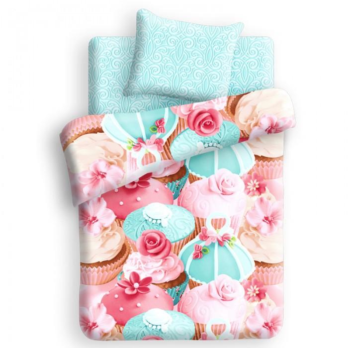 Постельное белье 1.5-спальное Непоседа For You Капкейк 1.5-спальное (3 предмета) постельное белье 1 5 спальное непоседа смайлы 1 5 спальное 3 предмета