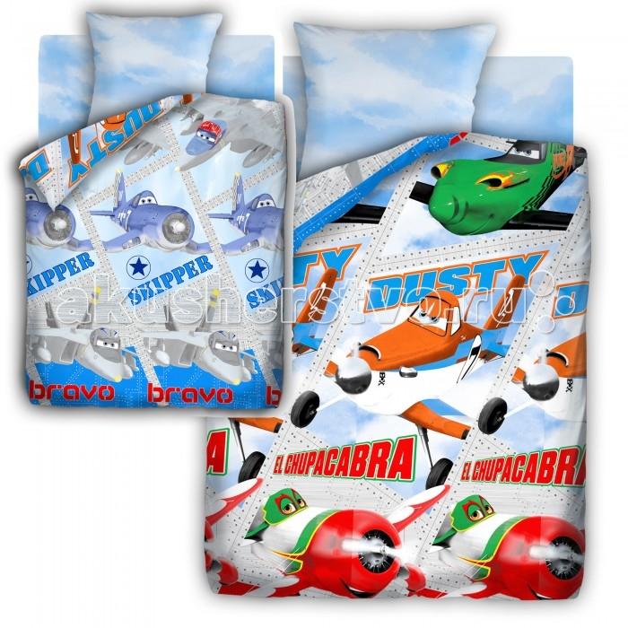 Постельное белье Disney Самолеты 1.5-спальное (3 предмета)