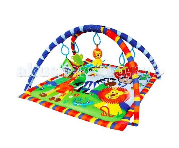 Развивающий коврик Жирафики Веселое сафари 939312Веселое сафари 939312Развивающий коврик Shantou Gepai Веселое сафари 939312 на котором, можно играть, в трёх положениях: на спинке, на животике или сидя.   Малышу будет интересно тянутся за развивающими игрушками, с помощью которых он будет изучать мир, а также смотреться в безопасное зеркальце и развивать пространственное воображение.   В комплект входят: 5 развивающих игрушек, 3 положения для игры.  Размер коврика: 84 см<br>