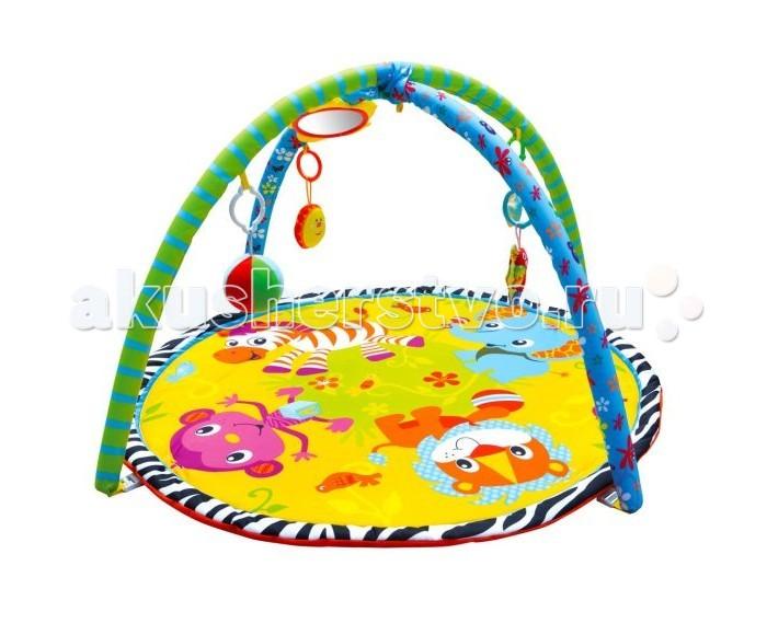 Развивающий коврик Жирафики Джунгли зовут 939315Джунгли зовут 939315Развивающий коврик Shantou Gepai Джунгли зовут 939315 на котором, можно играть, в трёх положениях: на спинке, на животике или сидя.   Малышу будет интересно тянутся за развивающими игрушками, с помощью которых он будет изучать мир, а также смотреться в безопасное зеркальце и развивать пространственное воображение.   В комплект входят: 5 развивающих игрушек, 3 положения для игры.  Размер коврика: 84 см<br>