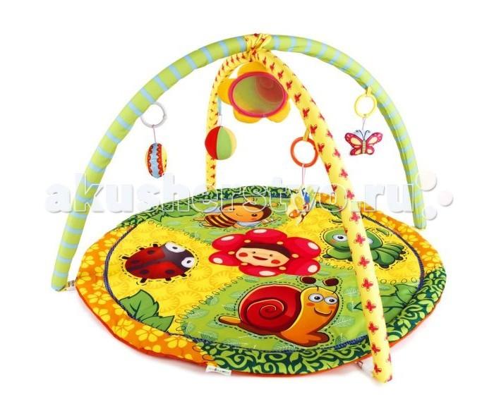 Развивающий коврик Жирафики Летняя полянка 939314Летняя полянка 939314Развивающий коврик Shantou Gepai Летняя полянка 939314 на котором, можно играть, в трёх положениях: на спинке, на животике или сидя.   Малышу будет интересно тянутся за развивающими игрушками, с помощью которых он будет изучать мир, а также смотреться в безопасное зеркальце и развивать пространственное воображение.   В комплект входят: 5 развивающих игрушек, 3 положения для игры.  Размер коврика: 84 см<br>