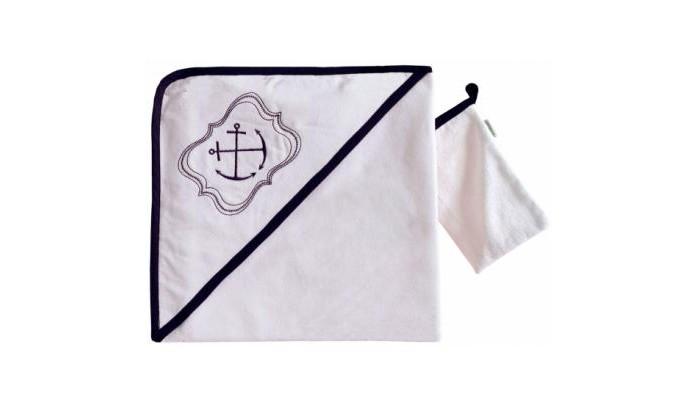 Полотенца Kidboo Комплект полотенце-уголок + варежка Blue Ocean полотенца kidboo комплект полотенце уголок варежка butterfly