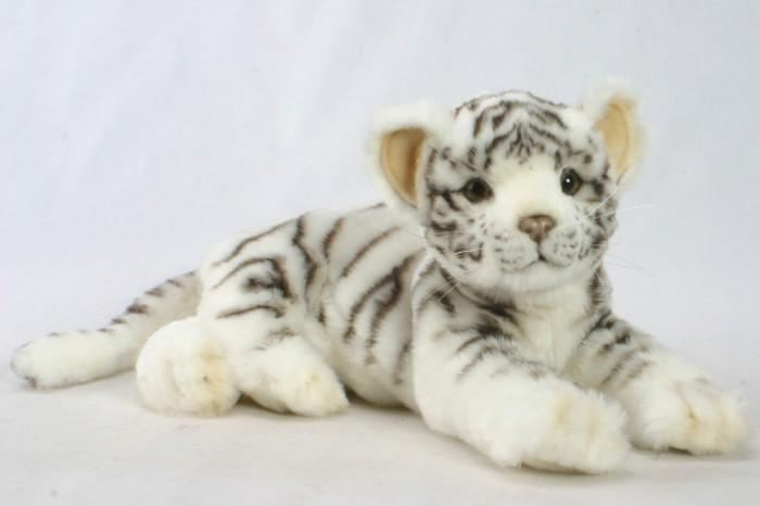 Купить Мягкие игрушки, Мягкая игрушка Hansa Детеныш белого тигра лежащий 36 см