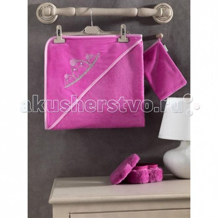Полотенца Kidboo Комплект полотенце-уголок + варежка Little Princess, Полотенца - артикул:20269