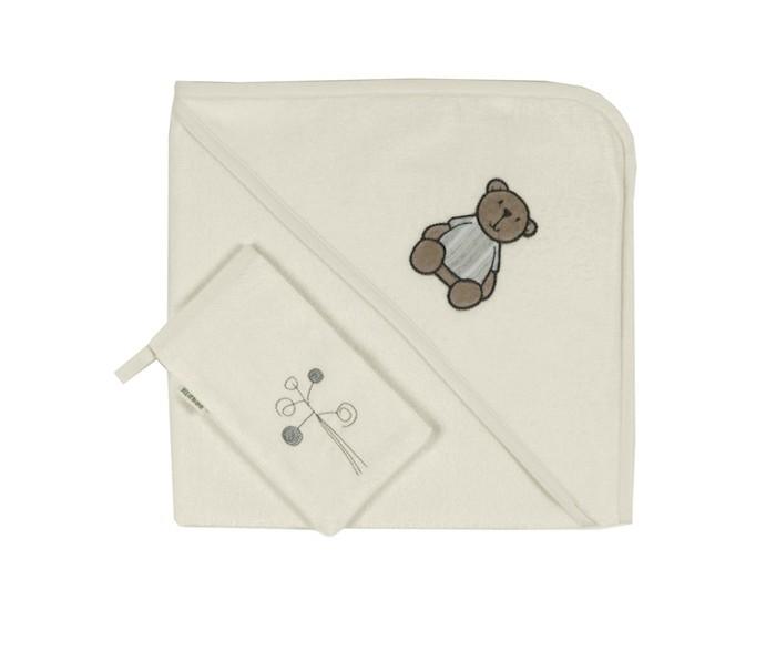 Полотенца Kidboo Комплект полотенце-уголок + варежка Little Bear полотенца kidboo комплект полотенце уголок варежка butterfly