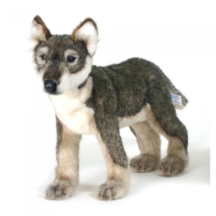 Купить Мягкие игрушки, Мягкая игрушка Hansa Щенок волка стоящий 30 см
