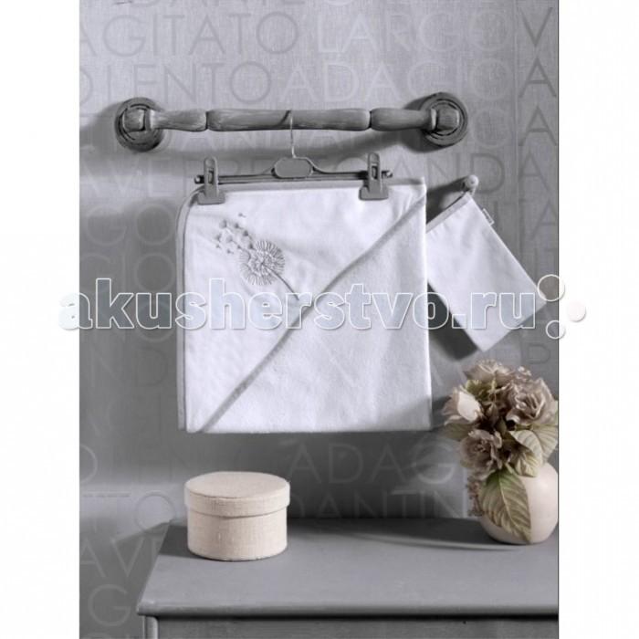 Полотенца Kidboo Комплект полотенце-уголок + варежка Blossom Saten Vanilla полотенца kidboo комплект полотенце уголок варежка butterfly