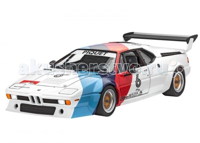 Конструктор Revell Автомобиль BMW M1 PROCARАвтомобиль BMW M1 PROCARСборная модель гоночного варианта автомобиля BMW M1. Прототип был разработан в далеком 1978 году и впервые представлен на автосалоне в Париже. От обычной версии BMW M1 он отличался усовершенствованным двигателем мощностью 460 лошадиных сил. Двигатель позволял автомобилю развивать максимальную скорость в 310 км/ч. Также было внесено множество других модификаций для соответствия правилам гонок серии Pro-Car.   В 1979 году в новом сезоне Pro-Car участвовало 20 болидов BMW M1. Они ничем не отличались друг от друга. Поэтому на трассе первым становился пилот с лучшими навыки вождения, а не технологиями. В комплект входят декали для сборки под прототипы BMW M1 пилотов Niki Lauda и Nelson Piquet в сезоне 1979 года.   Модель выполнена из пластика, поэтому для ее сборки вам потребуется специальный клей. Для покраски рекомендуется использовать акриловые или эмалевые краски Revell. Прозрачные пластиковые детали рекомендуется клеить специальным клеем Contacta Clear.    Внимание! Все вышеперечисленные расходные материалы не входят в набор и приобретаются отдельно.  Особенности:   Длина модели в собранном виде: 19.1 см Масштаб: 1:24 Количество деталей: 91 шт.<br>