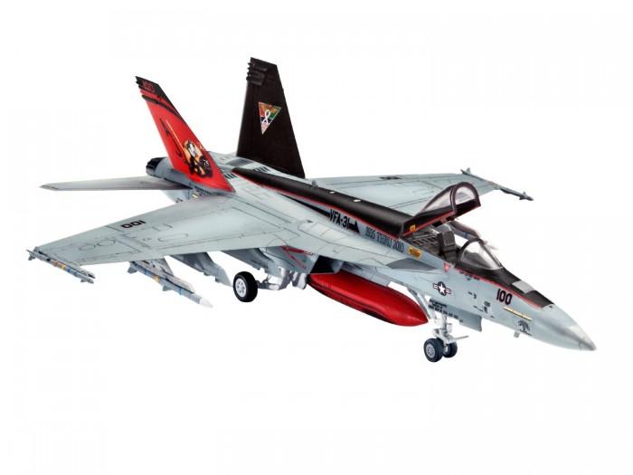 Конструктор Revell Набор Самолет Истребитель-бомбардировщик Боинг F/A-18E/F Супер ХорнетНабор Самолет Истребитель-бомбардировщик Боинг F/A-18E/F Супер ХорнетСамолет F/A-18E/F Супер Хорнет — это американский палубный истребитель. Основой для создания Хорнета был истребитель F/A-18. Состоит на вооружении Польши, Венгрии и Чехии.  Набор от знаменитого американского бренда Revell содержит все необходимое для создания собственной точной копии реальной техники: кисточку, клей, краски основных цветов и декоративные наклейки.  Сборная модель поможет ребенку развить воображение, координацию движений, усидчивость, внимательность и логическое мышление.  Особенности:   Размер упаковки: 27 х 4 х 23 см Длина собранной модели: 12.7 см Размах крыльев собранной модели: 9.3 см Масштаб: 1:144 Количество деталей: 63 шт.<br>