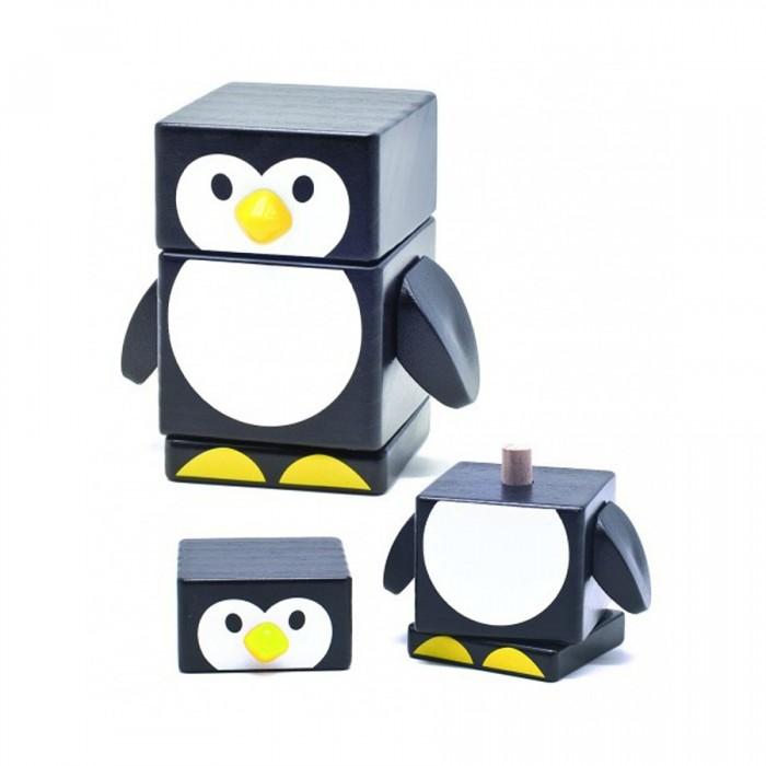 Деревянные игрушки Бомик Пирамидка Пингвин деревянные игрушки бомик клоун пирамидка 3