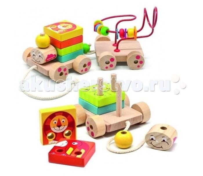 Деревянная игрушка Бомик Паровозик Чух-Чух игровой набор