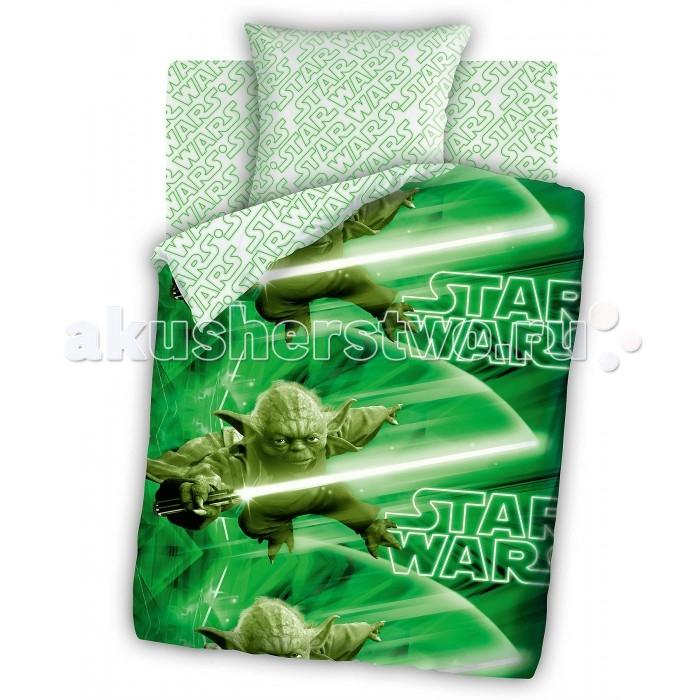 Постельные принадлежности , Постельное белье 1.5-спальное Непоседа Star Wars Мастер Йода 1.5-спальное (3 предмета) арт: 202851 -  Постельное белье 1.5-спальное