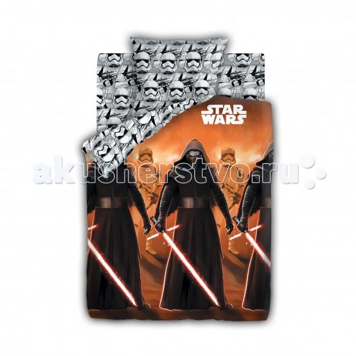 Постельные принадлежности , Постельное белье 1.5-спальное Непоседа Star Wars Neon Кайло Рен и Штурмовики 1.5-спальное (3 предмета) арт: 202863 -  Постельное белье 1.5-спальное