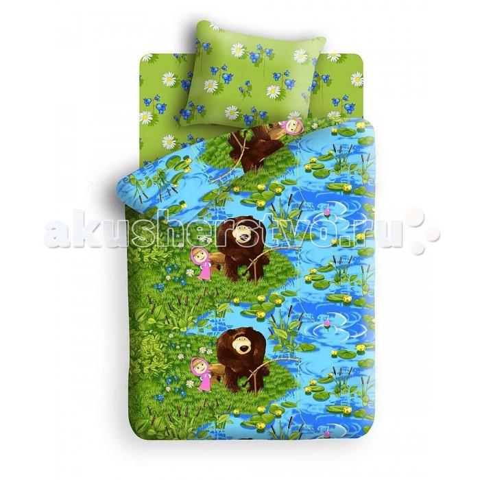 Постельное белье 1.5-спальное Непоседа Маша и Медведь На рыбалке 172790 1.5-спальное (3 предмета) детский комплект постельного белья непоседа на рыбалке