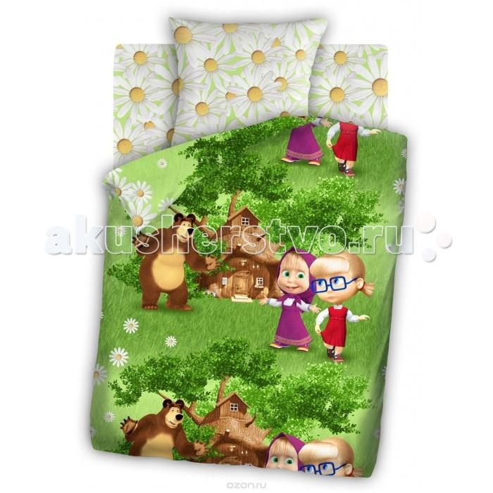 Постельное белье Непоседа Маша и Медведь Двое на одного 1.5-спальное (3 предмета)
