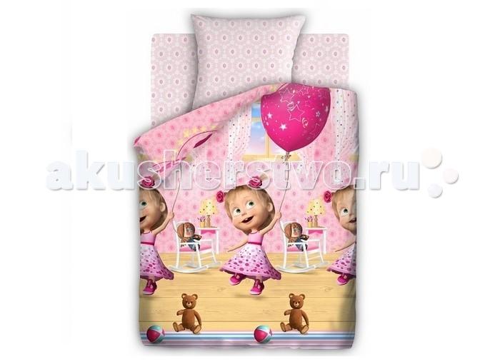 Постельное белье 1.5-спальное Непоседа Маша и Медведь День рождения 1.5-спальное (3 предмета) постельное белье 1 5 спальное непоседа смайлы 1 5 спальное 3 предмета