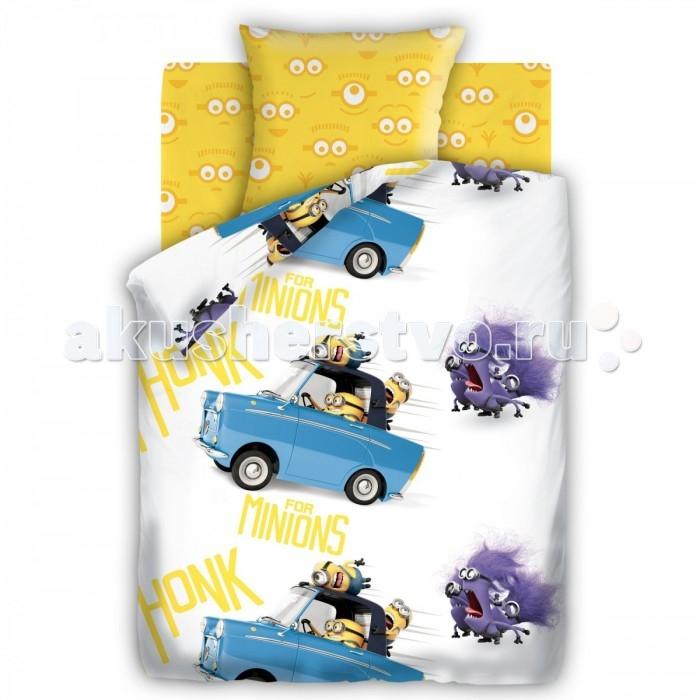 Постельное белье 1.5-спальное Непоседа Миньоны Погоня 1.5-спальное (3 предмета) постельное белье 1 5 спальное непоседа смайлы 1 5 спальное 3 предмета