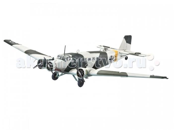 Конструктор Revell Набор Самолет Транспортный Трехмоторный Юнкерс Ю52 (56 деталей)Набор Самолет Транспортный Трехмоторный Юнкерс Ю52 (56 деталей)Самолет Юнкерс JU52 производился с 1932 года и до окончания Второй мировой войны — до 1945 года. За все время было произведено более 5000 самолетов. Наиболее активно использовался также силами Германии во время гражданской войны в Испании. Состоял на вооружении Швейцарии вплоть до конца 80-х годов. Набор от знаменитого американского бренда Revell содержит все необходимое для создания собственной точной копии реальной техники: кисточку, клей и краски основных цветов.  Особенности:   Размер упаковки: 33 х 5 х 31.5 см Длина собранной модели: 13.2 см Размах крыльев собранной модели: 20.2 см Масштаб: 1:144 Количество деталей: 56 шт.<br>