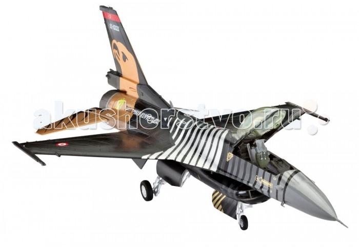 Конструктор Revell Самолет F-16 C SOLO TURK (126 деталей)Самолет F-16 C SOLO TURK (126 деталей)В данный подарочный набор от американской компании Revell входят не только детали для сборки, но и клей с красками, а значит, вам не придется покупать их отдельно. F-16 – один из самых успешных и универсальных истребителей в НАТО и имеет широкую сферу применения. Он оснащен мощным двигателем и считается одним из самых распространенных истребителей четвертого поколения. Первый полет этот самолет совершил в середине 70-х годов. Модель для сборки практически в точности повторяет контуры прототипа.  Особенности:   Размах крыльев: 14 см Длина модели: 21.3 см Масштаб: 1:72 Количество деталей: 126 шт.<br>