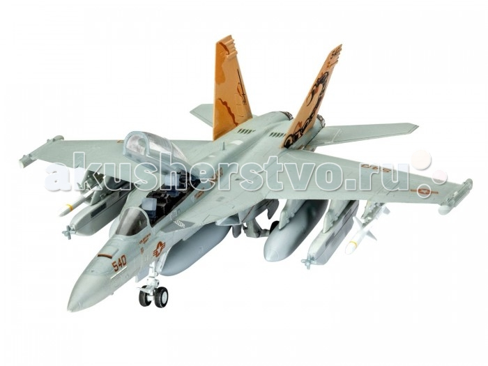 Конструктор Revell Набор Самолёт радиоэлектронной борьбы EA-18G Growler (63 детали)