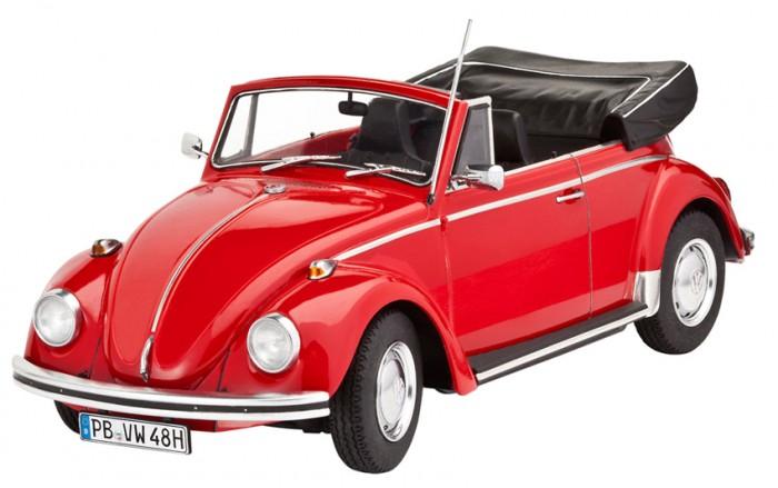 Конструкторы Revell Набор Автомобиль Фольксваген Жук 1500 C (Кабриолет) (122 элемента) конструкторы revell набор автомобиль vw beetle limousine 68 125 элементов