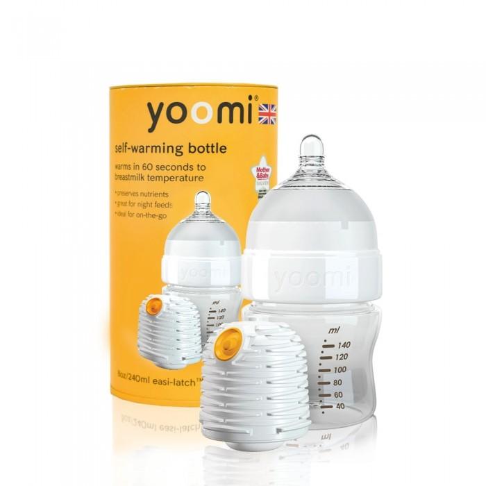 Аксессуары для кормления , Бутылочки Yoomi 140 мл (медленный поток) с подогревателем арт: 203271 -  Бутылочки