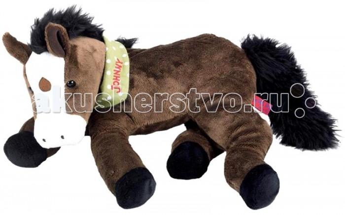 Мягкая игрушка Spiegelburg Плюшевая лошадка JohnnyПлюшевая лошадка JohnnySpiegelburg Плюшевая лошадка Johnny порадует маленьких любителей лошадей.  Милая маленькая лошадка станет добрым другом для любого ребенка. Эта мягкая и очаровательная игрушка украсит детскую комнату, наполнит её атмосферой нежности и доброты, а главное - подарит вашему ребенку много радостных минут.   Лошадку можно брать с собой в путешествия, в детский сад, спать с ней, она украшена зеленой косынкой с ее именем, как настоящий ковбой.  Подарив такую игрушку ребенку, вы не ошибетесь с выбором!  Игрушка выполнена из качественного плюша, приятна на ощупь.<br>