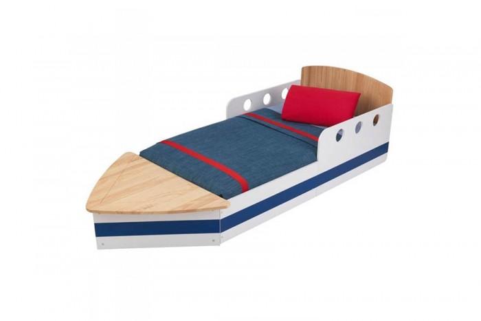 Детская кроватка KidKraft ЯхтаЯхтаKidKraft Детская кровать Яхта.  Кроватка для юнных мореплвателей удивит всех своим дизайном и задаст морское настроение. Детская кроватка удобная по высоте.  У подножия кровати имеется ниша для хранения спальных принадлежностей.  Надежная, прочная конструкция.  Материал: МДФ, дерево  Размер матраса: 140х70х10 см  Размеры (дхшхв): 184x81x51 см Габариты в упаковке (ШxДxВ): 90x65x25 см Объем: 0.14 м3 Вес: 33.7 кг<br>