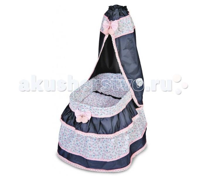 Кроватка для куклы DeCuevas с балдахином Романтик 60 см 51014