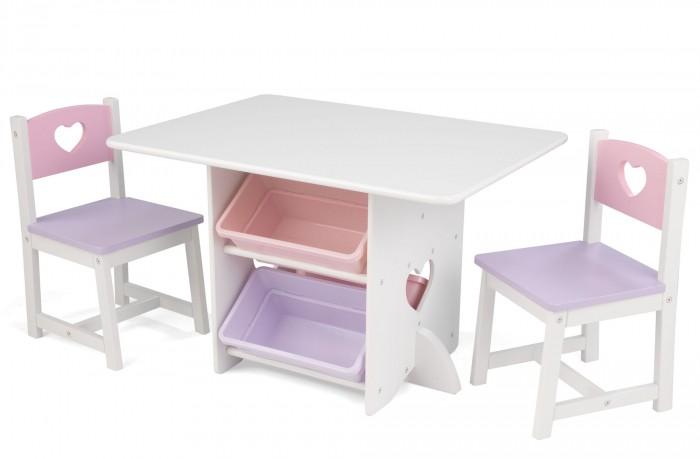 Столы и стулья, KidKraft Стол 2 стула Сердце  - купить со скидкой