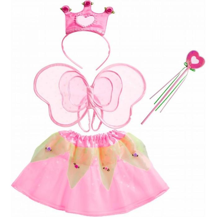 Spiegelburg Набор маленькой феи Prinzessin Lillifee 21689Набор маленькой феи Prinzessin Lillifee 21689Spiegelburg Набор маленькой феи Prinzessin Lillifee 21689 прекрасно подойдет маленьким девочкам для различных праздников и маскарадов!   В набор входят розовая юбочка, ободок с короной, крылышки на лямках и волшебная палочка. Все предметы выполнены в нежно-розовом цвете и украшены сердечками и цветочками.  В таком наряде любая девочка превратится в маленькую фею!<br>