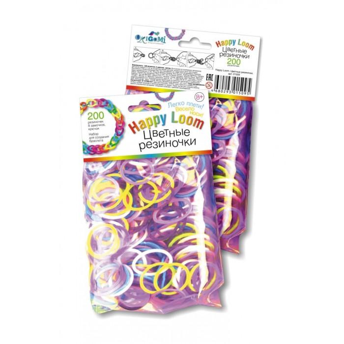 Наборы для творчества Happy Loom Набор для творчества - Цветные резиночки в пакете 01509 happy loom набор для творчества цветные резиночки в коробке 01786