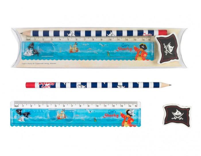 Канцелярия Spiegelburg Канцелярский набор Captn Sharky 20631 наборы для творчества spiegelburg набор для детского творчества captn sharky 21364