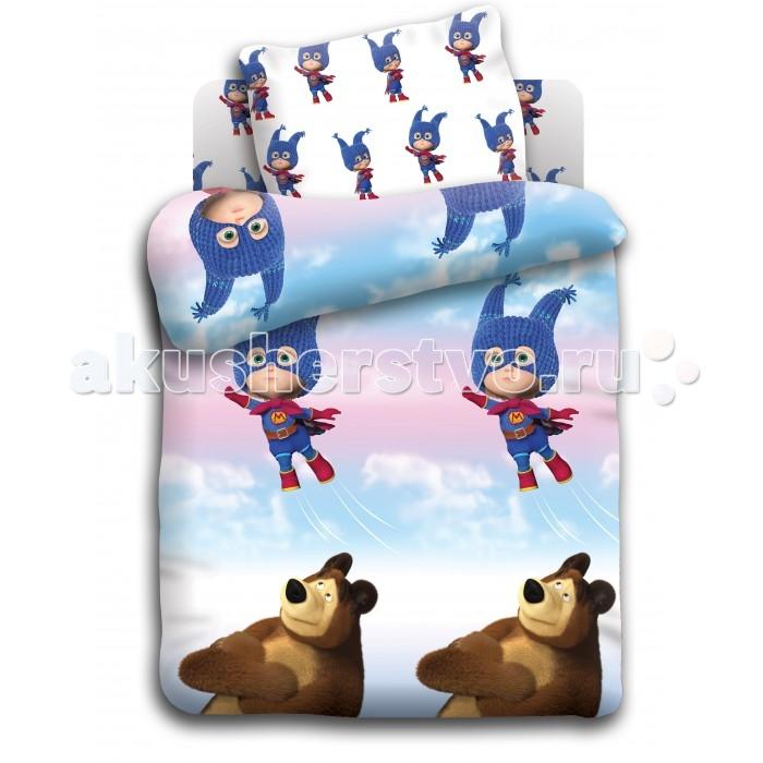 Фото Постельное белье Непоседа Маша и Медведь baby Маша супергерой (3 предмета)